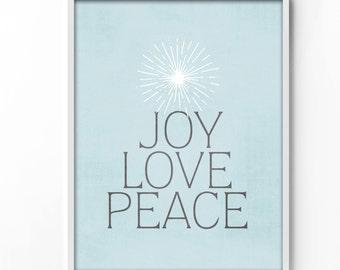 wall art printable, art print, wall decor, home decor, printable art, instant download, holiday, christmas, graphic art, typography