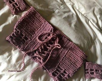 High Voltage Top, Crochet crop top