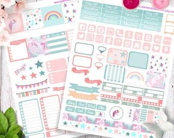 Printable Planner Stickers unicorn