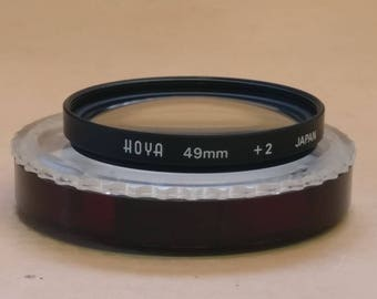 Hoya 49mm +2 filter, in Hoya capsule, Made in Japan