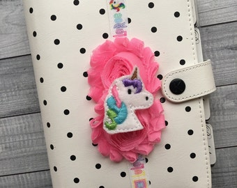 LLR Unicorn Planner Band: Pink and Rainbow, Elastic, Notebook and Planner Closure, Perfect for EC, Mambi, Kikki K, Filofax, & more!