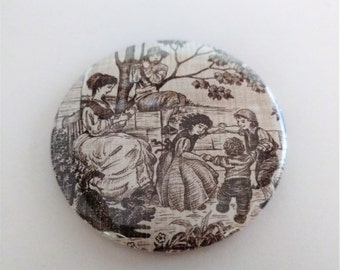 Victorian Countryside Pocket Mirror