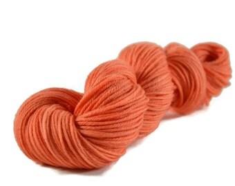 Worsted Yarn, Superwash Merino yarn, worsted weight yarn, wool yarn, 100% Superwash Merino, orange, peach, worsted merino - Coral