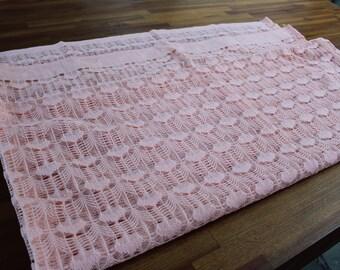 Vintage Peach Lace Shower Curtain