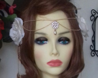 Rose Gold Vintage Style Headpiece