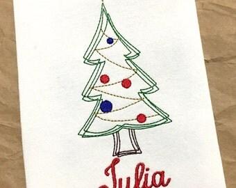 Christmas Tree Shirt / Christmas Tree / Personalized Christmas Shirt / Girls Christmas Shirt / Christmas Embroidery / Christmas Shirt