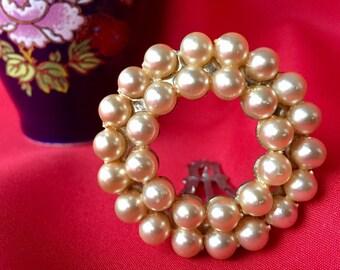 Vintage Faux Pearl Dress Clip, Pearl Dress Clip, Vintage Pearl Clip