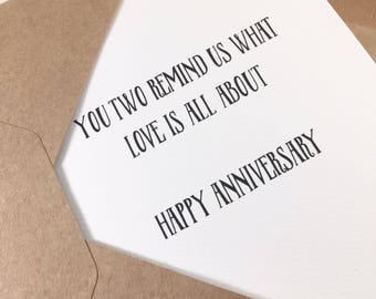 Anniversary card for grandparents/Anniversary card for parents