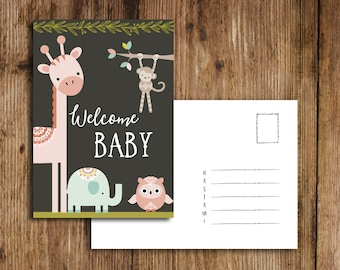 Welcome baby of postcard, baby, greeting card Geburtm greeting card/birth