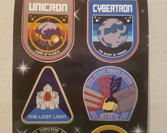 NASA Inspired Transformers Stickers