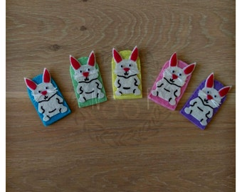 Five Little Easter Bunnies Felt Finger Puppets