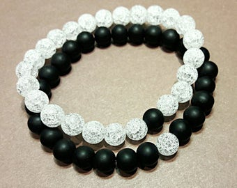 long distance relationship bracelet yin yang jewelry white black couples set friendship bracelet 1 year anniversary gift for boyfriend