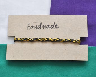 Handmade Black and Gold Plaited Bracelet
