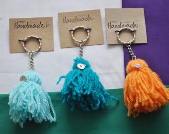 Handmade Colourful PomPom Tassel Keyrings