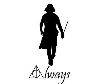 Harry Potter Severus Snape Always Vinyl Decal/Bumper Sticker
