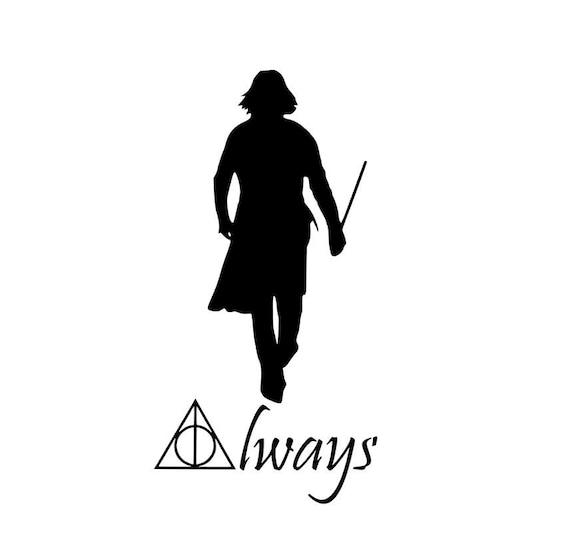 Harry Potter Severus Snape Always Vinyl Decal Bumper Sticker