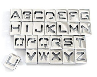 Letter Charms for 8mm bracelet belt