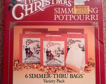 Old Tyme Christmas Vintage Simmer Thru Potpourri Bags Earth Scents Variety Pack