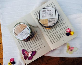 Just a Little Bookish Candle Range - Book Pages.