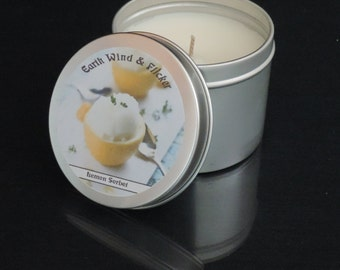 Lemon Candle - Lemon Soy Candle - Scented Candle UK - Candles UK - Soy Candle UK - Vegan Candle - Relaxing Candle - Candle Tin
