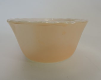 Fire King, Glass Small Bowl,6 oz Bowl, Vintage Glass, Peach Luster, 424,  Vintage Bowl, Custard Cup