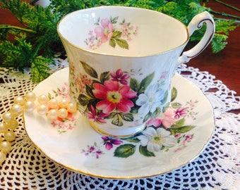 Paragon Flower Festival Teacup and Saucer