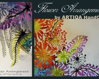 interior,art,flower,arrengement,object,sculpture,rare,botanical,ikebana,tabletop,display,desktop,accessory,metallic,color,green,nature