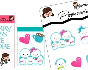 Sweet Snowman Stickers, {#37}