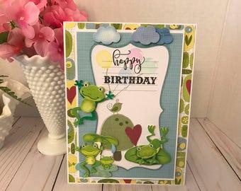 Happy Birthday Froggie Card-Hoppy Birthday