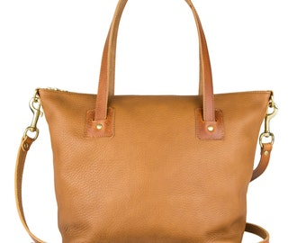 Loretta Tan Large Leather Tote Bag