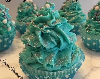 Tiffany Inspired Bath Bomb Cupcake With Bubble Bath Frosting