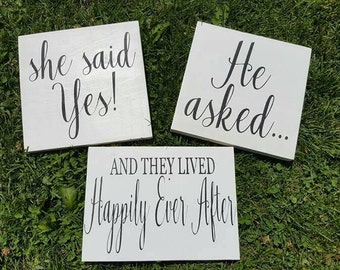 Happily Ever After | Wedding Decor | Rustic Wedding | Custom Sign | 3 Peice Sign | Country Wedding | Made in Canada