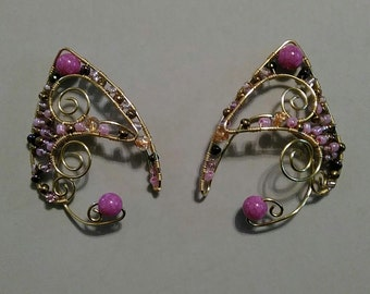 Renaissance Ear Cuffs Purple