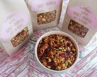 Nana's Granola ~ Maple Almond Pecan Granola