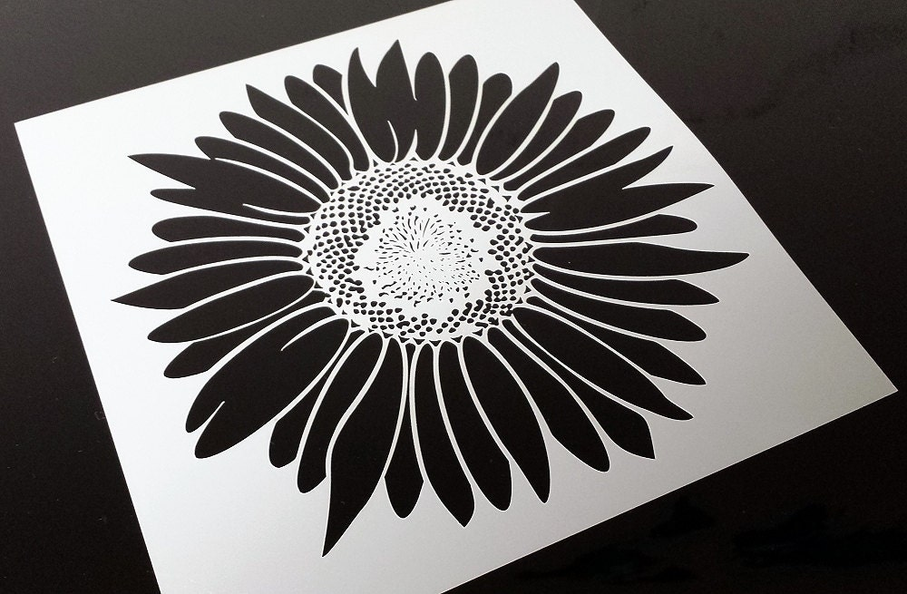 Sunflower Stencil Brighten Up Any Room Cheaper Than