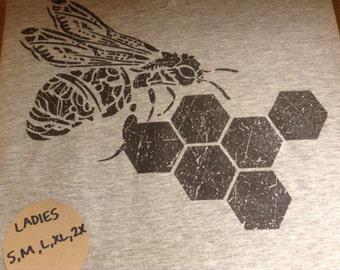 Honey Bee Shirt - Ladies V-neck