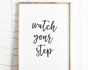 watch your step sign front door sign digital downloads step door sign