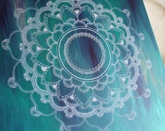 My Own Wave Mandala Painting