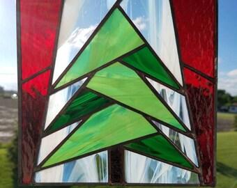Quilted Evergreen Inspired Christmas Suncatcher
