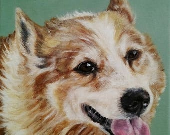 Pet Painting, Dog portrait, Pet portraits - Acrylic painting on canvas