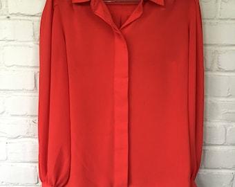 Vintage sheer long sleeved blouse