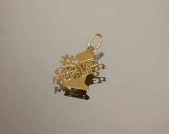 14k Yellow Gold Number 1 Grand Mother Grandmother Pendant Charm