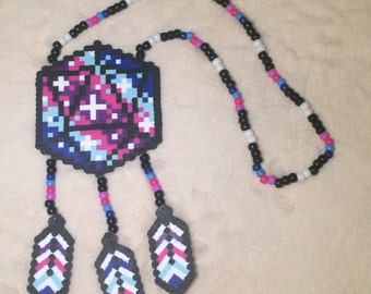 Odesza Galaxy Dreamcatcher Kandi Necklace