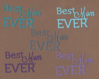 10 Best Mom Ever Die Cuts for Paper Crafts in Cool Waters Set  #5785