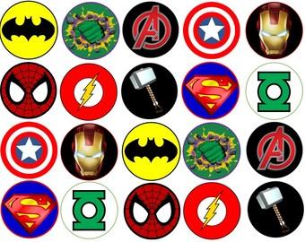 superhero symbols etsy