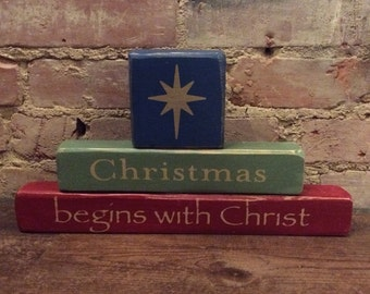 Items Similar To Christmas Begins With Christ Chalkboard