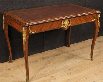 French writing desk in rosewood with gilt bronzes