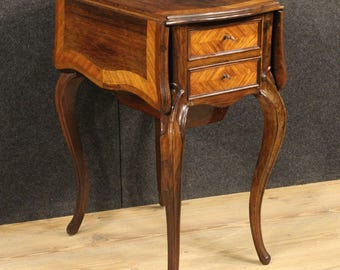 Antique side table with side flaps in rosewood from 19th century