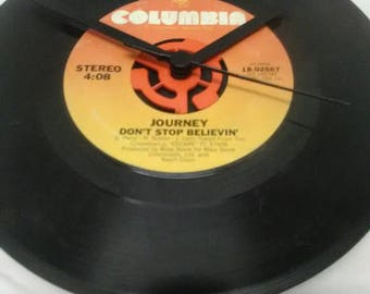 Journey 45 Record Clock - Don't Stop Believing