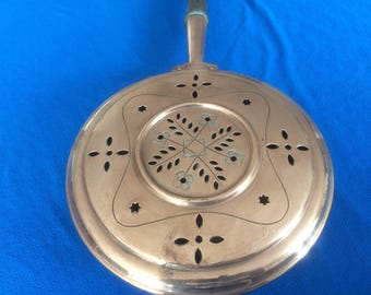 Vintage French Copper Bed Warmer